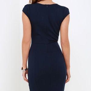 Lulu's Navy Blue Midi Dress